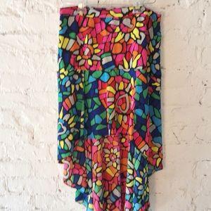 L'Amour Nanette Lepore girls hi lo Colorful Skirt